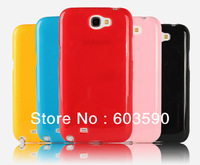 10PCS Lot High quality soft TPU Material Case Skin Glossy Cover For Samsung Galaxy Note 2 II N7100 Mobile Phone Accessories
