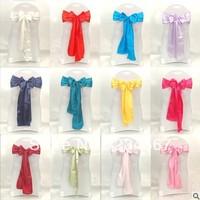 100pcs satin chair sash bow ribbon wedding party banquet decoration free shipping