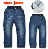 2013 warm boys thicken jeans casual winter jeans for boys topolino denim overalls cowboy children pants kids cotton ski trousers