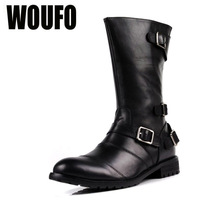 size38-44 2013 fashion men's black trend high-leg genuine leather tooling outdoor genuine leather motorcycle boots
