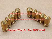 20pcs/lot 3D Printer  Nozzle for Makerbot MK7 MK8 0.4mm  length13mm