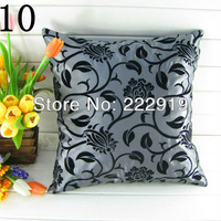 Free shipping Wholesale cheap pillow covers grey and black cushion cover/european stylepillow covers for sofa