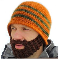 Full Beard Beanie Mustache Mask Face Warmer Ski Winter Hat Cap Gift Adult Unisex warmly hats Creative design Drop Shipping