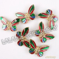 45pcs/lot Fashion Enamel Butterfly Loose Alloy Spacer Beads Findings Fit DIY 112834