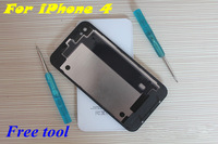 For Iphone 4 4G Back Cover Housing Glass Battery with black/white Free shipping + Free TOOL The lowest price