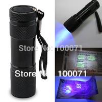 2014 New Blacklight Invisible Ink Marker 9LED UV Ultra Violet Flashlight Torch Light 3AAA #47621