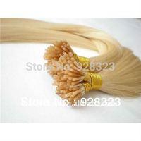 www.alibaba.com Brazilian Virgin Hair  I Tip Hair Extension Free shipping Blond hair extension 100% Human Hair Straight