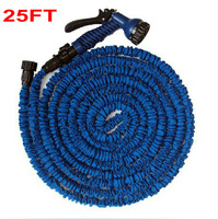 Free Shipping Wholesale Household Water Garden Hose Expandable Flexible Hose 25FT(As Seen On TV ) + 7 Forms Spray Gun