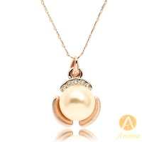 [Arinna Jewelry] [Arinna Jewelry] Jewelry Pendant Necklaces Rose Gold Pearl Necklaces for women best gift for lover N1345