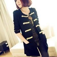 2014 New Fashion Spring Long Women Jackets Coats/Brand Desgual Jackets For Women/Casual Women Clothing Black