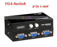 Metal Maxtor 2 Port VGA Switch LCD Monitor Switch Switcher 2 to 1 Selector Box 2 in 1 Vga Sharer free shipping