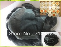 100% good human hair Q6 base  stock men toupee free shipping