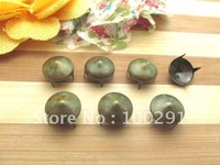 Free shipping!!5000pieces/lot 7mm/13mm Round green bronze DIY cone was cowboy fur clothing accessories