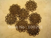 Free shipping!!!Wholesale flower piece of bronze fittings for women