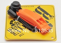 Hot Selling Bi-frequency D-flex Bass Whistle Outdoor Life-saving Whistle Orange Free Shipping