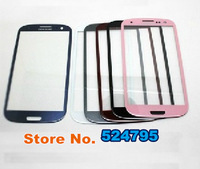5pcs/lot New Blue Black White pink Touch Screen Outer Glass Lens For Samsung Galaxy S3 S 3 SIII i9300 i535 L710 i747 T999