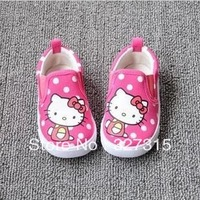 2013 Winter New flats HELLO KITTY pink canvas shoes female baby toddler shoes children sneakers sapatos reborn babies kids shoe