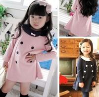 Cchildren Kids Autumn Spring Wear Dress Girls Princess Clothing Wear Fashion Design Dresses 5 size per lot