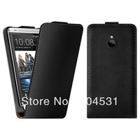 For HTC One Mini M4 Flip case, New Flip Cover Genuine Leather Case For HTC 610e 100pcs/lot  by Fedex Free Shipping