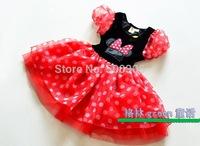 girl dot princess tutu dress item NO.131165H