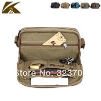New men handbags canvas leather bag, retro design Pocket,men messenger travel bags 5 colors K38