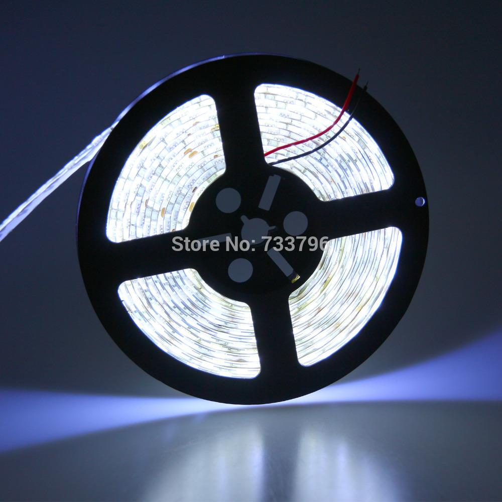 5m/lot 100m 300LED IP65 waterproof 12V SMD 5050 flexible light cold white/warm white RGB LED strip,60LED/ m(China (Mainland))
