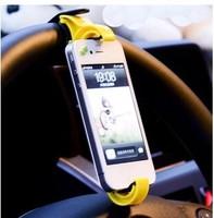 Min. order is $15 (mix order)3523 fitted seat car steering wheel mobile phone holder navigation frame