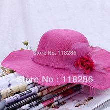 Summer sun protection straw braid fedoras Women summer sunbonnet beach cap big along the cap