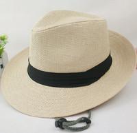 Male summer along the large straw hat sun hat outdoor hat fedoras female sunbonnet sun panama hat