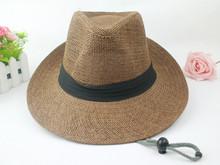 Male summer along the large straw hat sun hat outdoor hat fedoras female sunbonnet sun panama