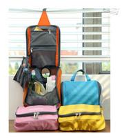 Free Shipping Fashion Colorful Multifunctional Travel Check Waterproof Wash Bag Travel Cosmetic Make Up Bag In Bag Storage Bag