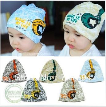 Free Shipping Children HATS NEW Hot Korean earphone children fashion Cap children Hat/baby hat Wholesale Skullies & Beanies