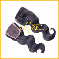 lace size 4x4,1B,130%density!!Grade AAAAA  Malaysia human hair middle part  body wave cheap lace closure
