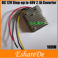 DC DC 12V Step-up to 48V 2.1A 100W Car LED Power Converter DC DC Step-Up Power Converter Module free shipping