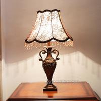 2014 Luxury vintage simple european table lamp bedroom bedside lamp fashion resin adjustable living room lampsbedside table lamp