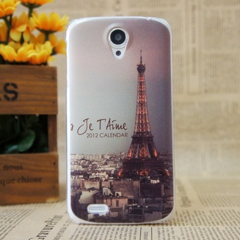 Ultra Thin Matte Lip Eiffel Tower Grid Hard Plastic Case for Lenovo S820 Cover Cases Cell Phone Cases Free Shipping