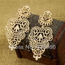Designer Jewelry Hot Selling Elegant Gold Color Metal Hollow Earrings for Women