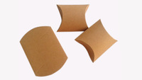 """Free Shipping 200pcs Wedding  Baby Shower Party Favor Boxes Kraft Pillow Candy Box 4'x 3 3/4"""" Wholesale"""