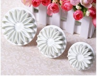 Free shipping, Hotsale 3x Sunflower Fondant Cake Decorating Cookies Sugarcraft Plunger Cutter Mold
