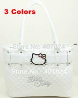 Fashion Shoulder Bags Lady bag Hello Kitty Messenger handbags High Capacity portable bag White Pink Black  823059