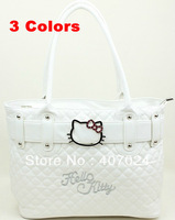 Fashion Shoulder Bags Lady bag Hello Kitty Messenger handbags High Capacity portable bag White Pink Black  823059