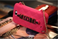 2013 Fashion metal style delicate flow chain soft silicon fret handbag case for Samsung Galaxy Note II N7100 MOQ:2(SXTOS)