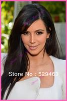 Long Black Glueless Full Lace Wig/Front Lace Wig Brazilian Virgin Human Hair Freeshipping #1#1b#2#4