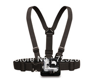 NEW 10pcs/lot Mount Harness Holding Strap Adjustable Fixture Chest For GoPro Action Camera Go Pro HD Hero,Hero2,Hero3,free ship
