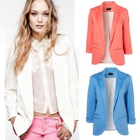 High Quality Ladies' Candy Color Casual Solid Color Suit