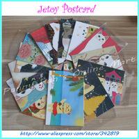 100 pcs 40 Different Pattern Friends Festival Creative Greeting Cards Cute Jetoy Cat Korea Style School Christmas Postcard