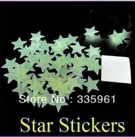 Free shipping 500PCS home wall luminous in the dark star stickers decals infant children gifts nursery