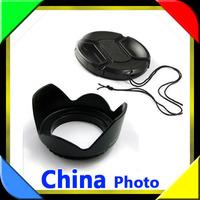 NEW 52 52mm Petal Lens Hood + Lens Cap for dslr Camera Nikon D5100 D3200 D5000 d3100 18-55 GF1 14-45 GF2 14-42 Canon 50F1.8