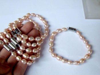 7-8mm AAA+++ Nice Qaulity Beautiful Freshwater Pearl Bracelet