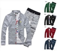 2013 Mens Fashion Sport Jacket Sweatshirt Coat Leisure Hoodies+Pants Suits M-XXXL 5 Colors Choose M00178
